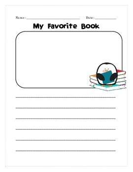 Favorite Book Opinion Writing