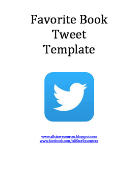 Favorite Book Tweet Template