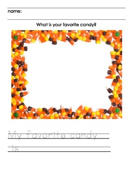 Favorite Candy Writing Activity for Halloween