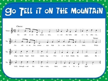 Favorite Carol - Go Tell It On the Mountain Teacher Kit Christmas Carol