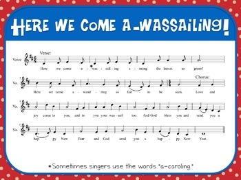 Favorite Carol - Here We Come A-Wassailing Teacher Kit Christmas Carol