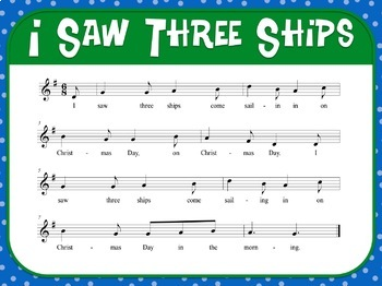 Favorite Carol - I Saw Three Ships Teacher Kit Christmas Carol