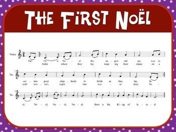 Favorite Carol - The First Noel Teacher Kit Christmas Carol