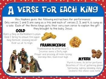 Favorite Christmas Carol - We Three Kings Teacher Kit Christmas Carol