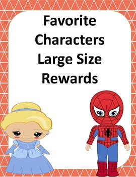 Favorite Character Large Size Rewards for VIPKID and Online ESL