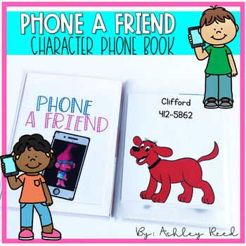 Favorite Character Phone Book for Dramatic Play