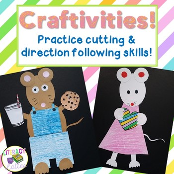 Educational Crafts: writing, fine motor & direction following skills