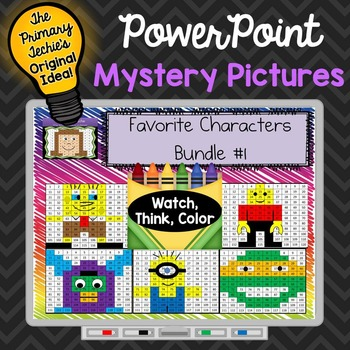 Favorite Characters Set 1 Watch, Think, Color - EXPANDING BUNDLE Mystery Picture