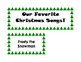Favorite Christmas Song Graphing Acitivty