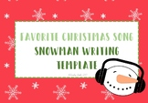 Favorite Christmas Song Writing Template