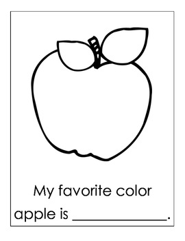 Favorite Color Apple Writing Center