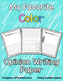 Favorite Color Opinion Writing Paper