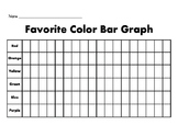 Favorite Color Tally Chart and Bar Graph