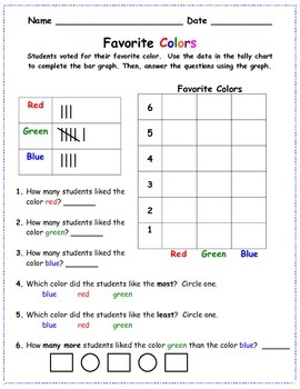 Favorite Colors Bar Graph and Tally Chart