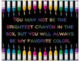 Favorite Crayon Poster