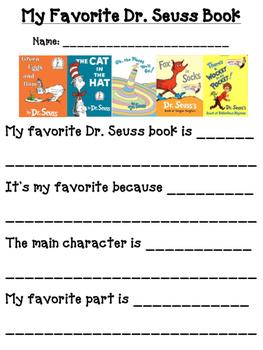 Favorite Dr. S Book: Read Across America Week