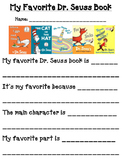 Favorite Dr. S Book: Read Across America Week