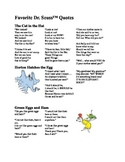 Favorite Dr. Suess Poems