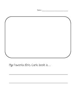 Favorite Eric Carle Book Writing