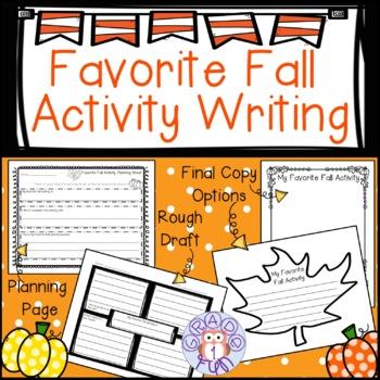 Favorite Fall Activity Writing