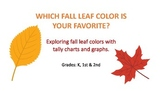 Favorite Fall Leaf colors using tally charts and graphs