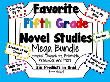 Favorite Fifth Grade Novel Studies Mega Bundle