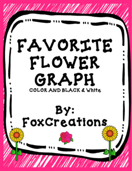 Favorite Flower Graph ~ Color and Black & White