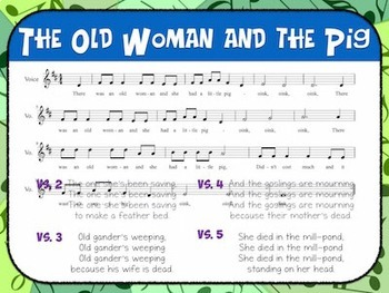 Favorite Folk Song – Old Woman and the Pig Teacher Kit