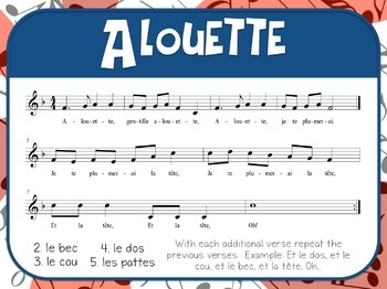 Favorite Folk Song – Alouette Teacher Kit