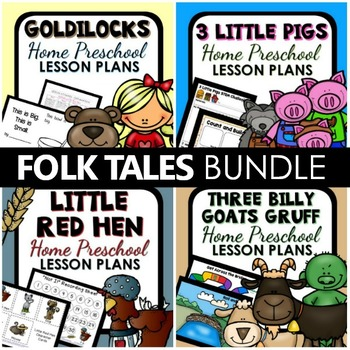 Favorite Folk Tales Home Preschool Lesson Plan BUNDLE