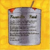 Favorite Food: Kindergarten Lesson Plan and Activities Bundles