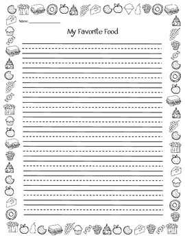 Favorite Food Writing Template {FREEBIE}