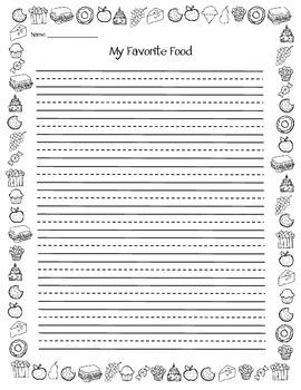 Favorite Food Writing Template {FREEBIE}