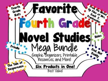 Favorite Fourth Grade Novel Studies Mega Bundle