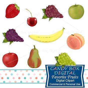 Favorite Fruits Clip Art