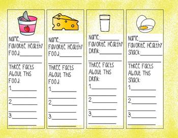 Favorite Healthy Foods Bookmarks