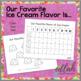 Favorite Ice Cream Graph- Summer Fun