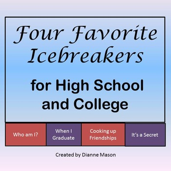 Four Favorite Icebreakers for High School and College