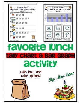 Favorite Lunch Tally Chart and Bar Graph Activity