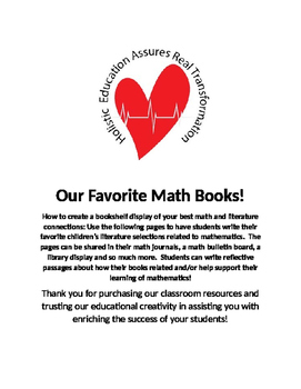 Favorite Math Books on a Shelf
