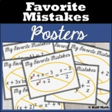 Favorite Mistakes Posters Classroom Decor