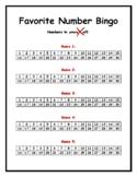 Favorite Number Bingo!