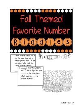 Favorite Number Math Riddles