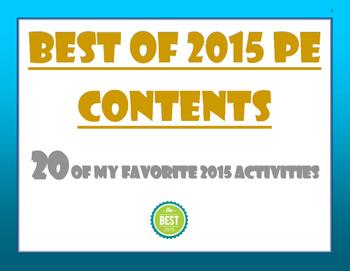 Favorite PE Activities 2015