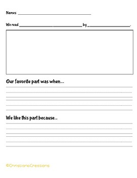 Favorite Part Graphic Organizer