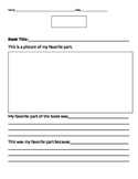 Favorite Part Reading Graphic Organizer
