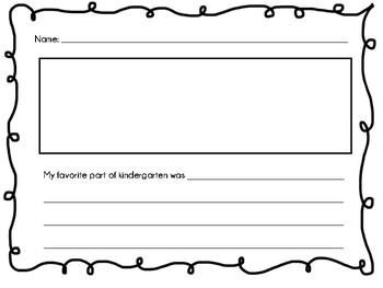 Favorite Part of Kindergarten Writing