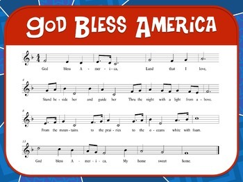 Favorite Patriotic Song – God Bless America Teacher Kit