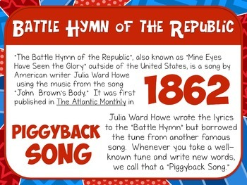 Favorite Patriotic Song – Battle Hymn of the Republic Teacher Kit