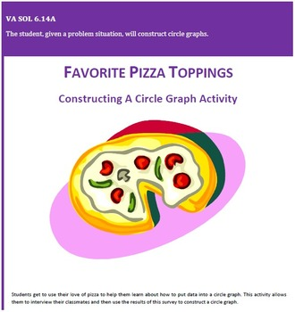 Favorite Pizza Toppings - Constructing Circle Graphs Activity